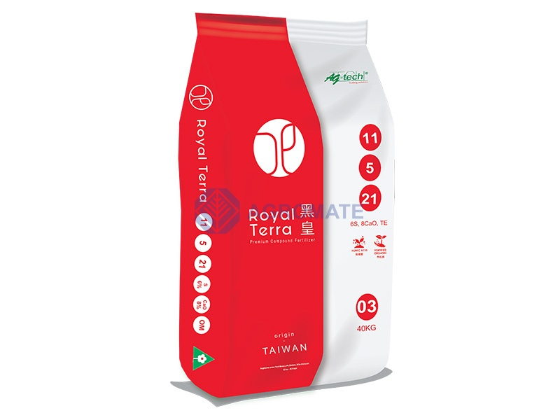 Royal Terra<br /> 11-5-21+6%S+ 8%CaO+40%OM